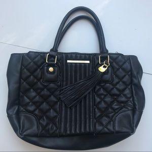 Steve Madden black & gold handbag purse